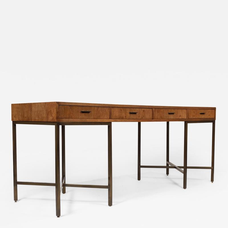 Mastercraft 1970s Oil Rubbed Bronzed and Speckled Ash Writing Desk by Mastercraft