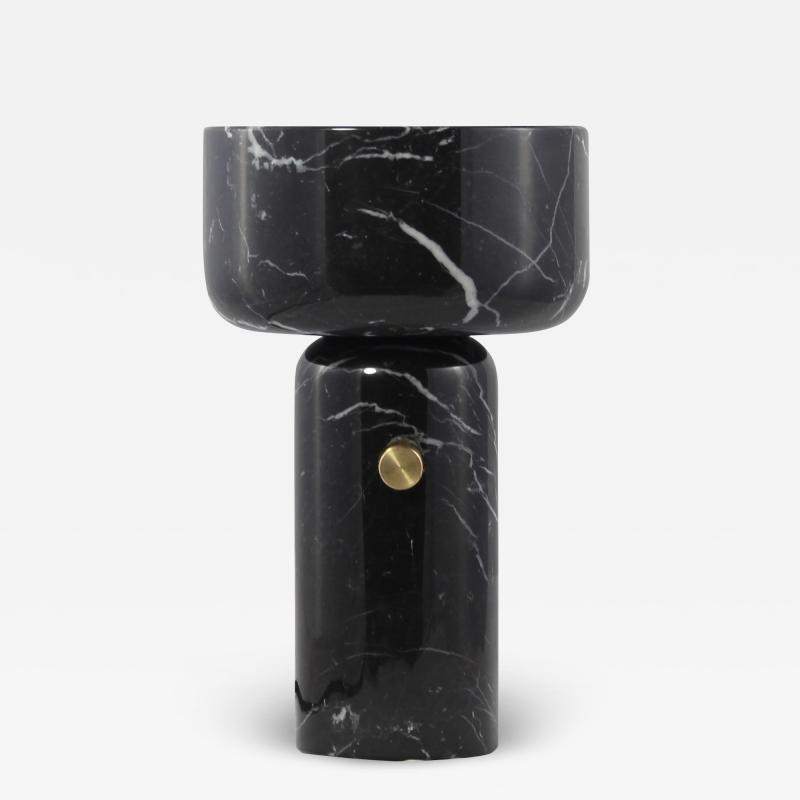 Matlight Milano E Elizarova for Matlight Italian Andromeda Black Marble Grand Cup Table Lamp