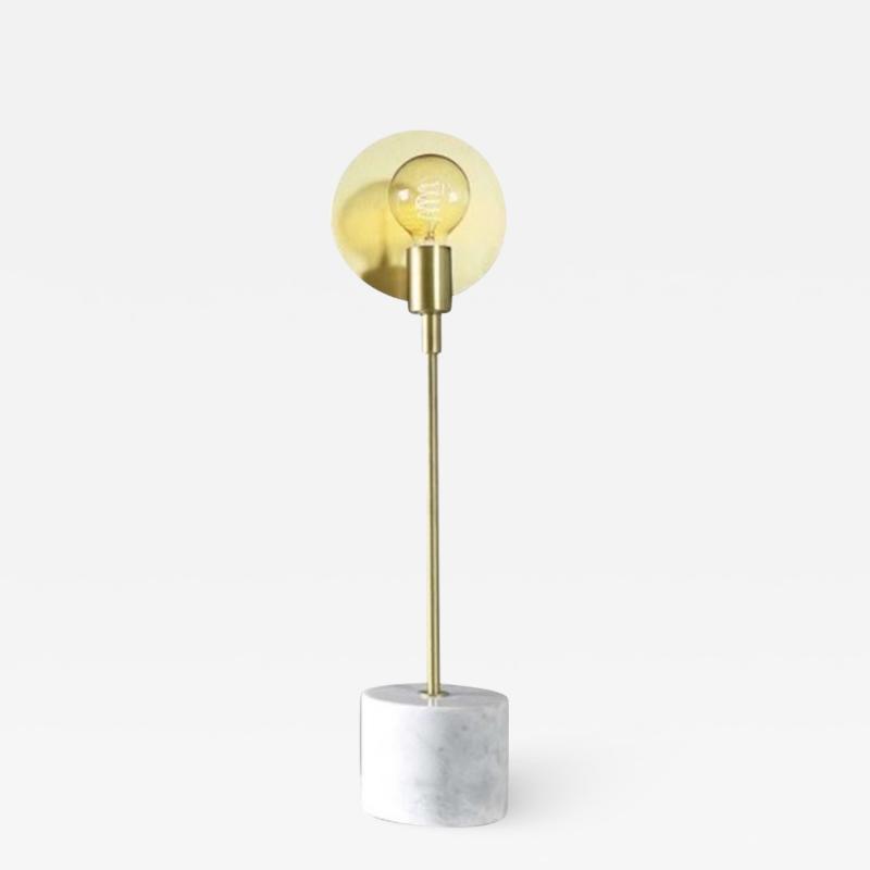 Matlight Milano Vanessa Bespoke Minimalist Italian White Marble Satin Brass Modern Table Lamp