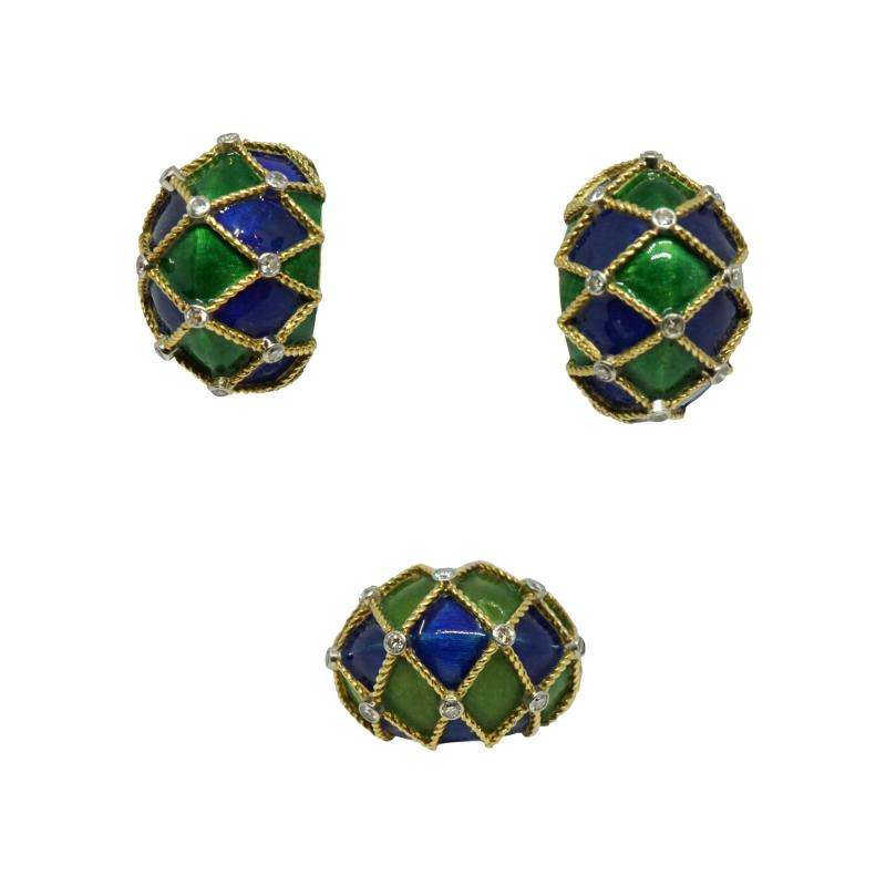 Mauboussin Mauboussin Paris Enameled Earrings and Ring