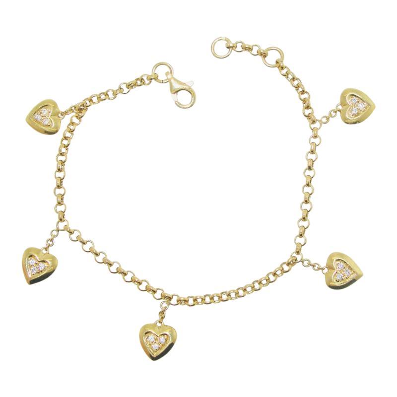 Mauboussin Mauboussin heart bracelet with small diamonds