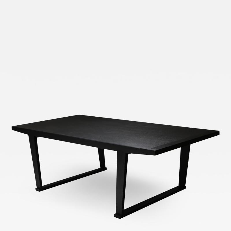 Maxalto Citterio black oak dining table Lucullo for Maxalto 2000s