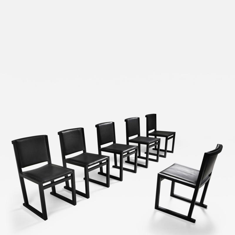 Maxalto Ebonized Oak Dining Chairs by Antonio Citterio for Maxalto 2000s