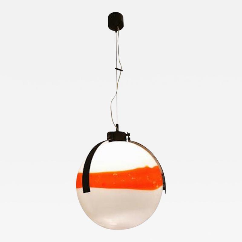 Mazzega Murano Mazzega Mid Century Modernist Murano Glass Ball Shaped Chandelier