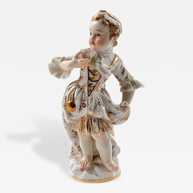 Meissen Meissen Porcelain Figurine of a Child Girl with a Cup