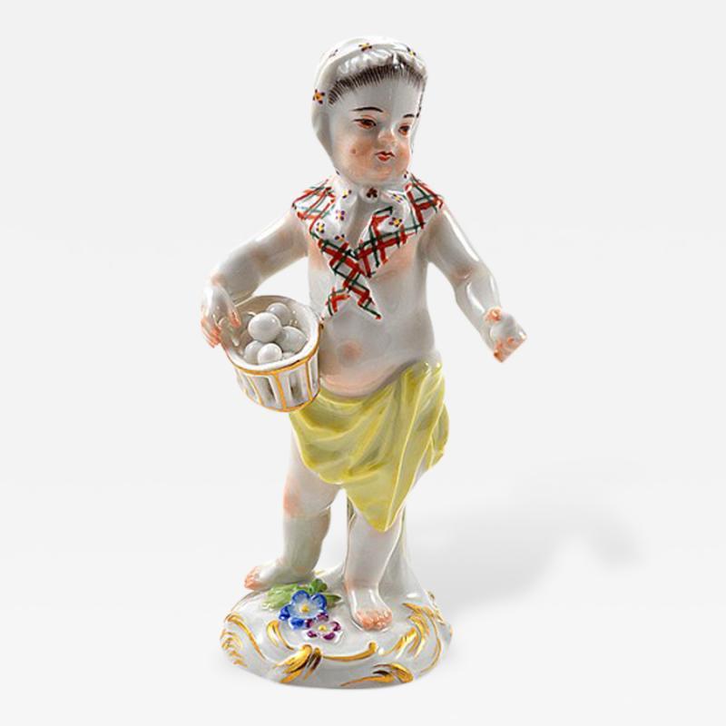 Meissen Meissen Porcelain Figurine of a Cupid as an Egg Seller