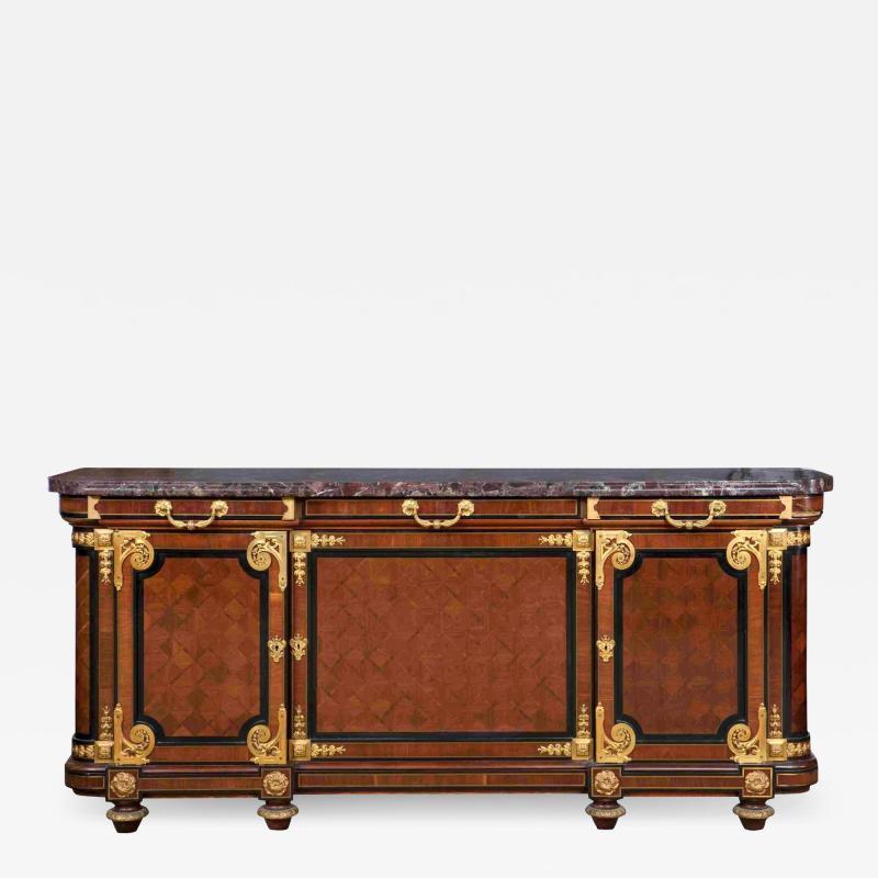 Mercier Fr res Antique Louis XVI Style Mahogany Ormolu and Marble Cabinet