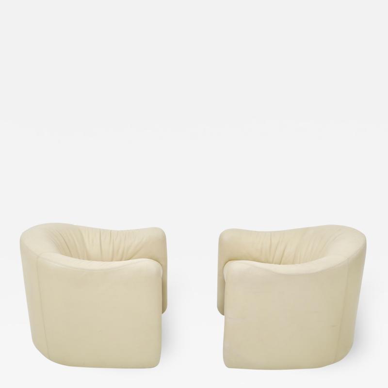 Metropolitan Furniture Leather Barrel Back Chairs Metropolitan 1970s