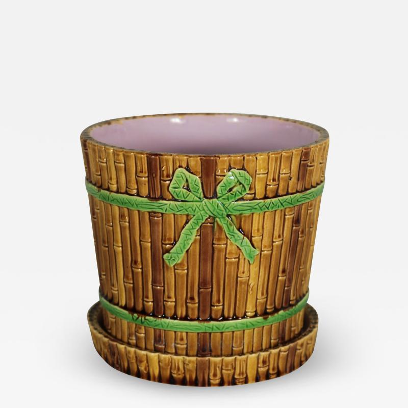 Minton Minton Majolica Bamboo Planter Stand