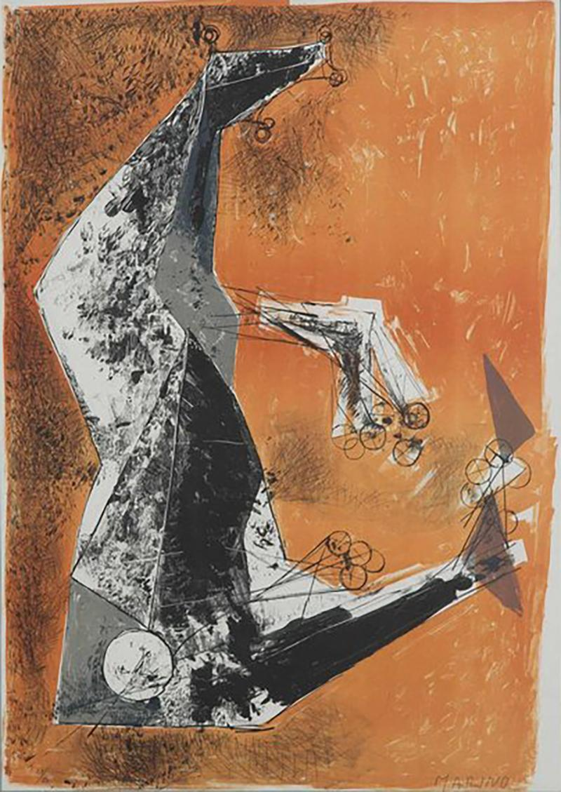 Miracolo by Marino Marini lithograph in colours