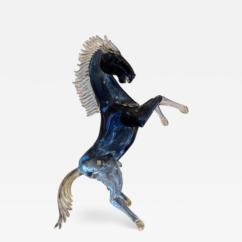 Murano Giant Murano Glass Horse by Oscar Zanetti