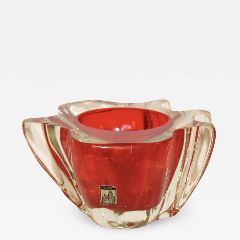 Murano Glass Sommerso 1950s Venetian Murano Glass Bowl