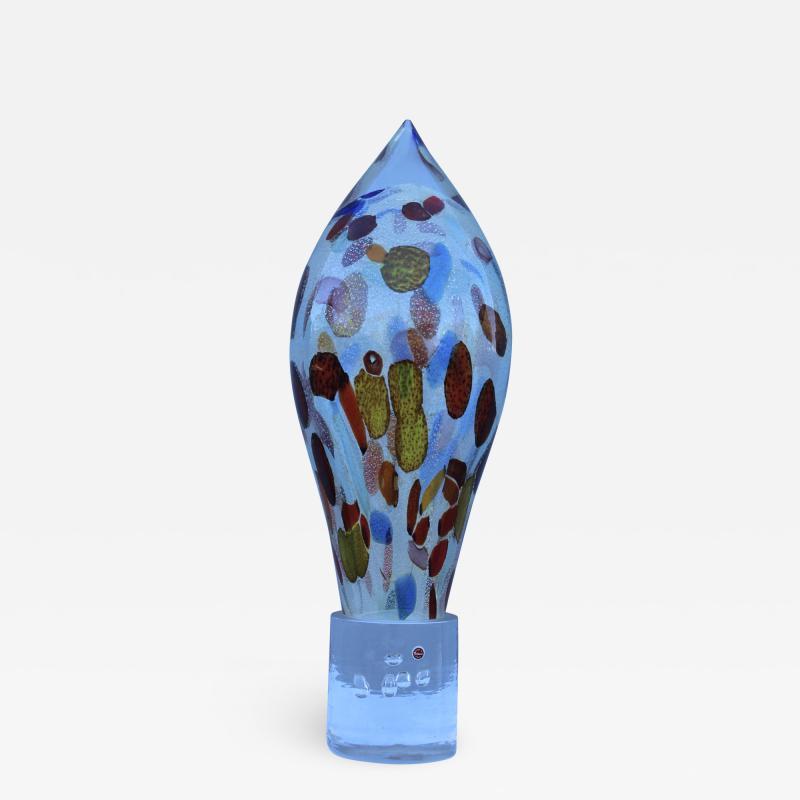Murano Glass Sommerso Murano Glass Mid Century Modern Sculpture