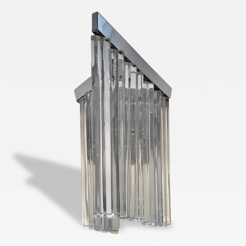 Murano Glass Sommerso Murano Glass Rod Sconces