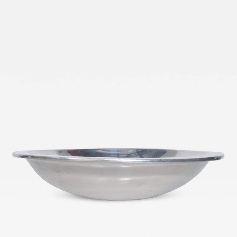 Nambe 1960s Modern NAMBE Bowl Silver Alloy Slanted Serving Dish Santa Fe New Mexico