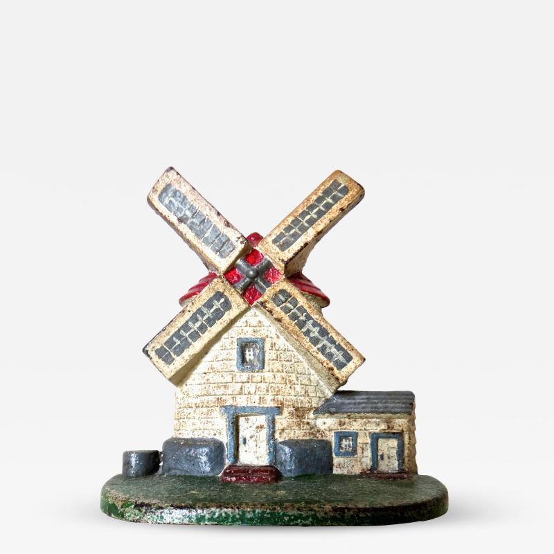 National Foundry Company Cape Cod Windmill Doorstop American Circa 1920s