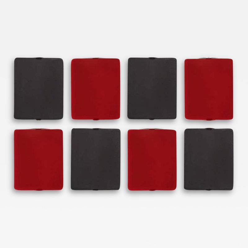 Nemo Lighting Set of 8 Charlotte Perriand Applique Volet Pivotant Red Black Wall Lights