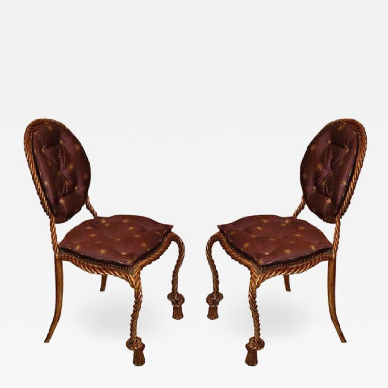 Niccolini Niccolini Pair of Gilt Iron Side Chair