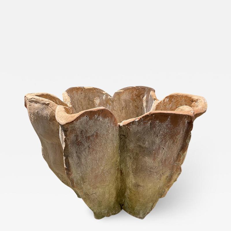 Oak Design Studios AGAVE Terracotta garden pots with natural patina