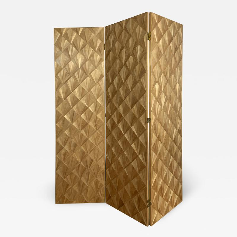 Oak Design Studios FRANKIE Straw Marquetry screens