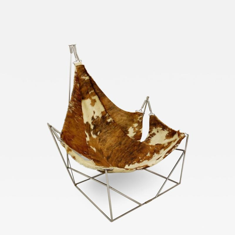 Odile Mir 1970s Cow Hide Chair By Odile Mir France