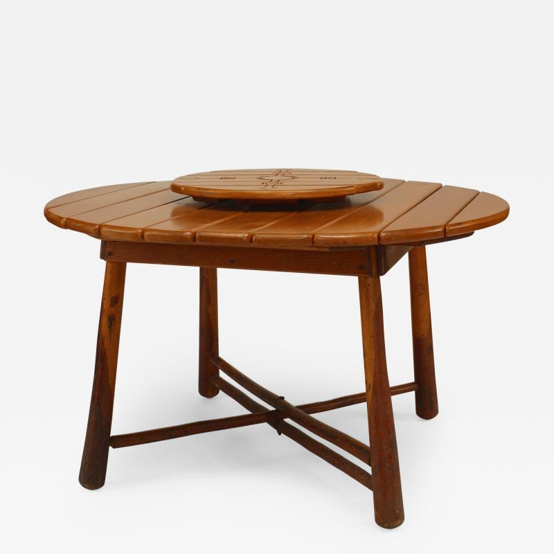 Old Hickory Furniture Co American Rustic Old Hickory 1940s Dining Table
