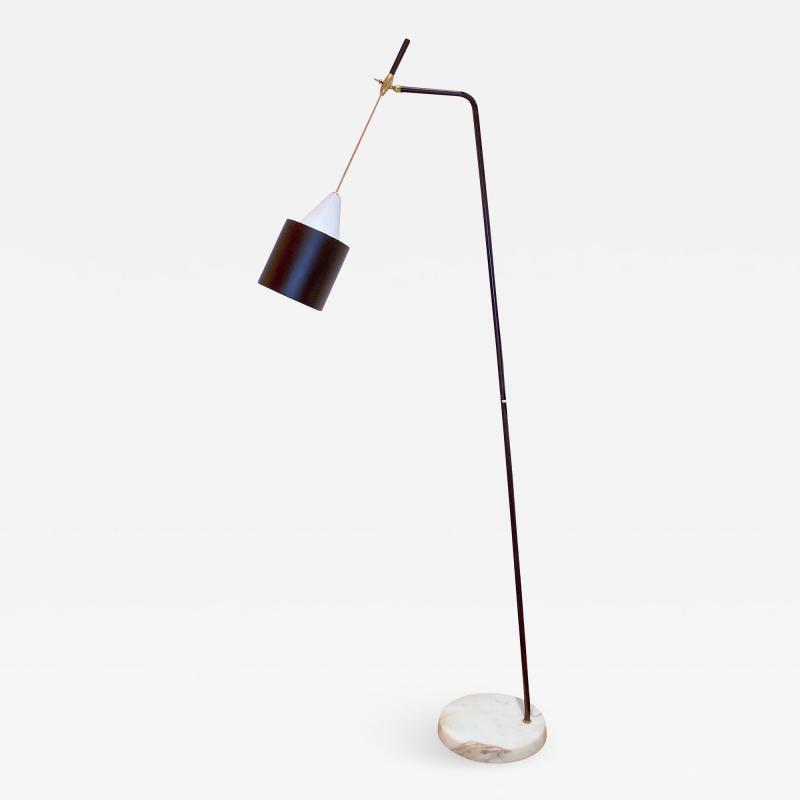 Oluce Adjustable Floor Lamp by O Luce Italy 1950s