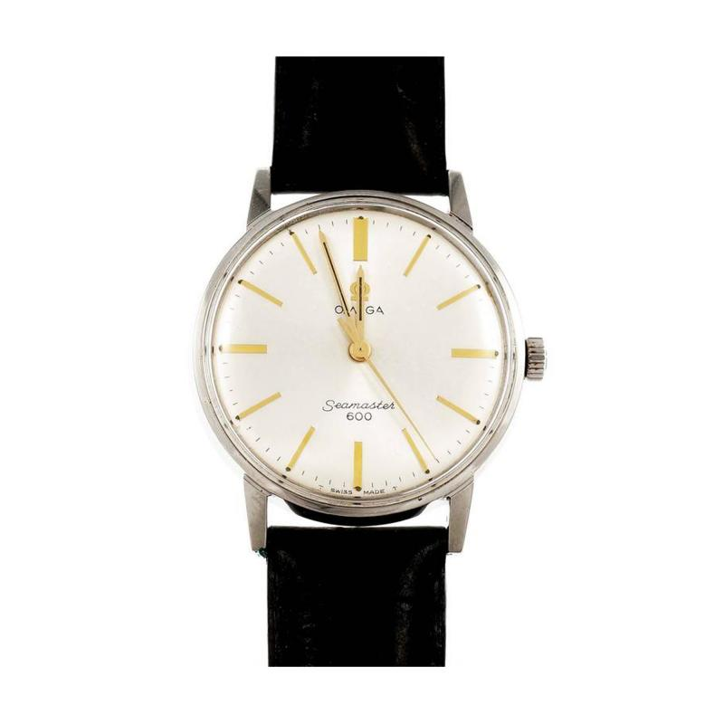 Omega Omega Stainless Steel Seamaster 600 Manual Wind Wristwatch
