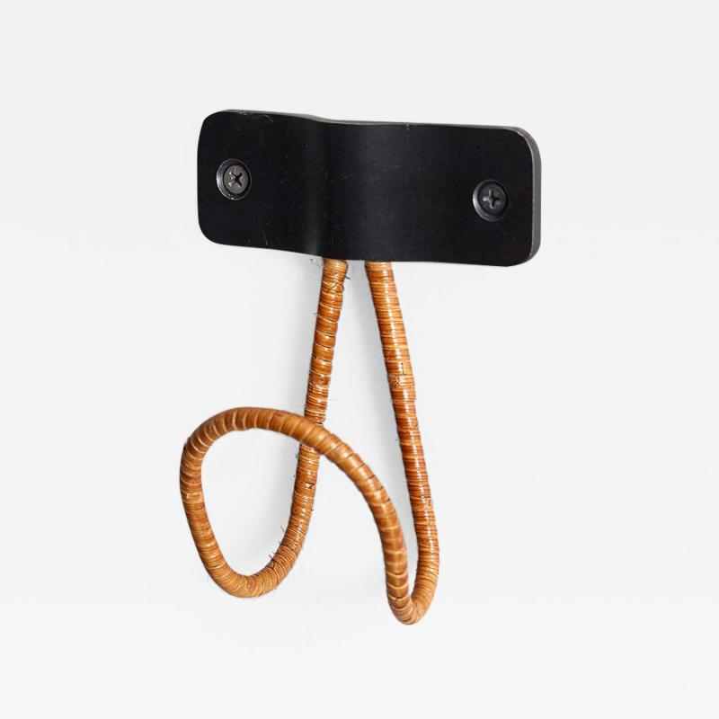 Orange Furniture WICKER AND IRON COAT HOOK BY ORANGE