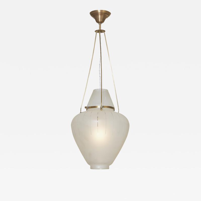 Orrefors Elegant Pendant Light Attributed to Orrefors