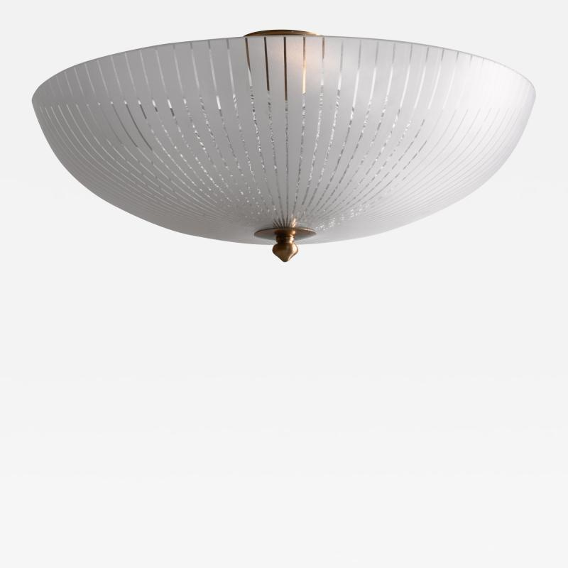 Orrefors Orrefors striped glass flush mount