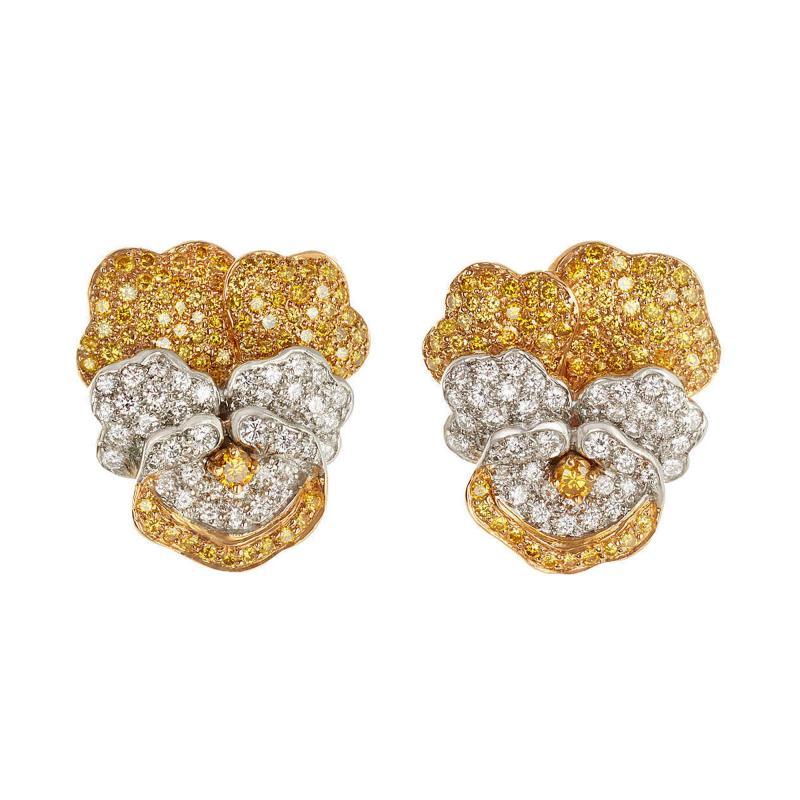 Oscar Heyman Brothers Oscar Heyman Pansy earrings