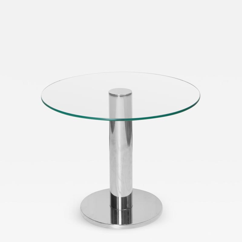 Pace Collection Chrome Accent Table in the Style of Leon Rosen for Pace