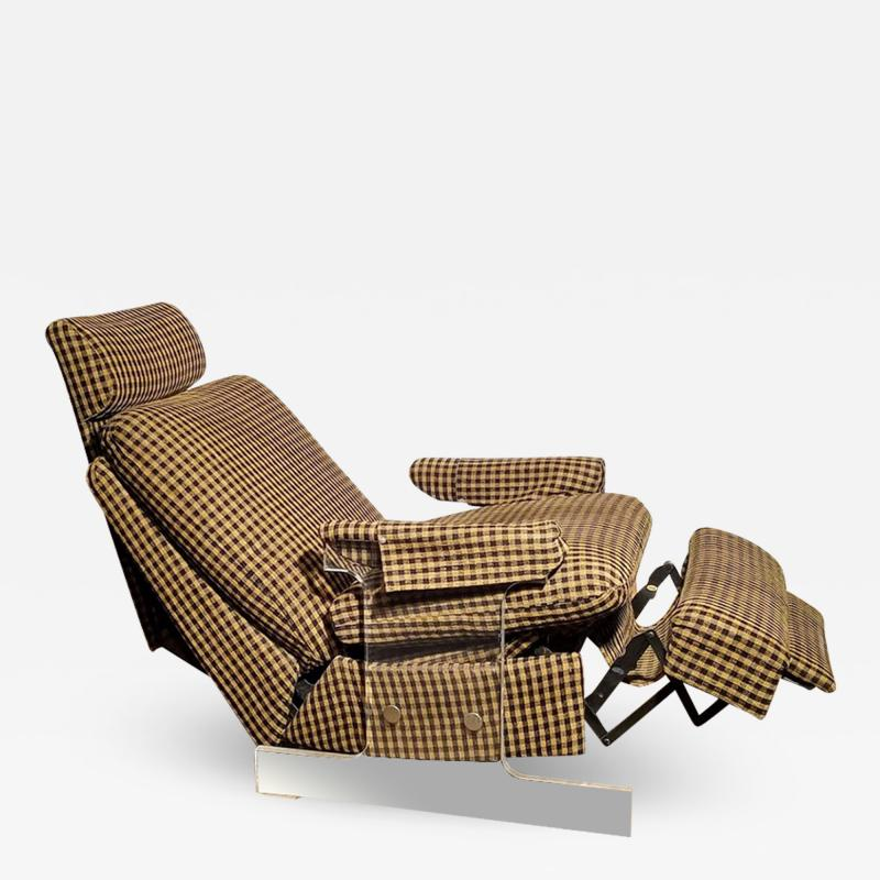 Pace Collection Lucite Reclining Lounge Chair 1980s