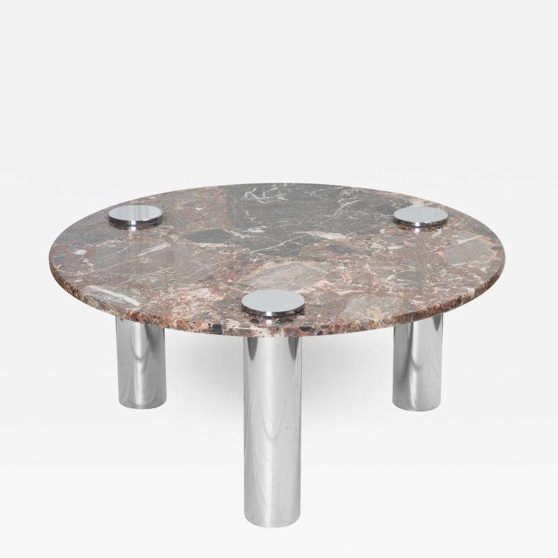 Pace Collection Marble Chrome Cocktail Table in the Style of Leon Rosen for Pace Collection