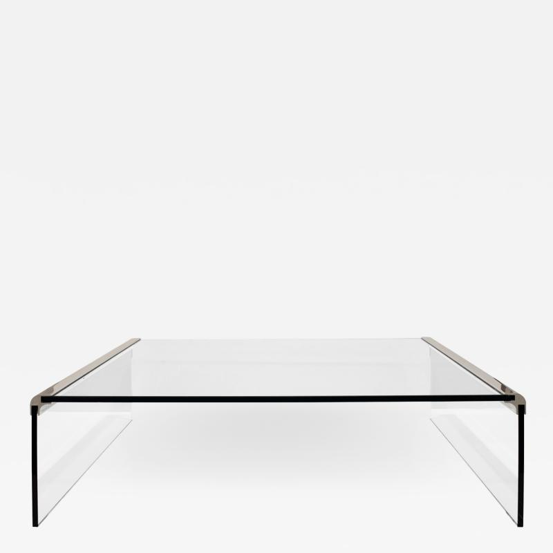 Pace Collection Pace Glass Waterfall Coffee Table 1970s