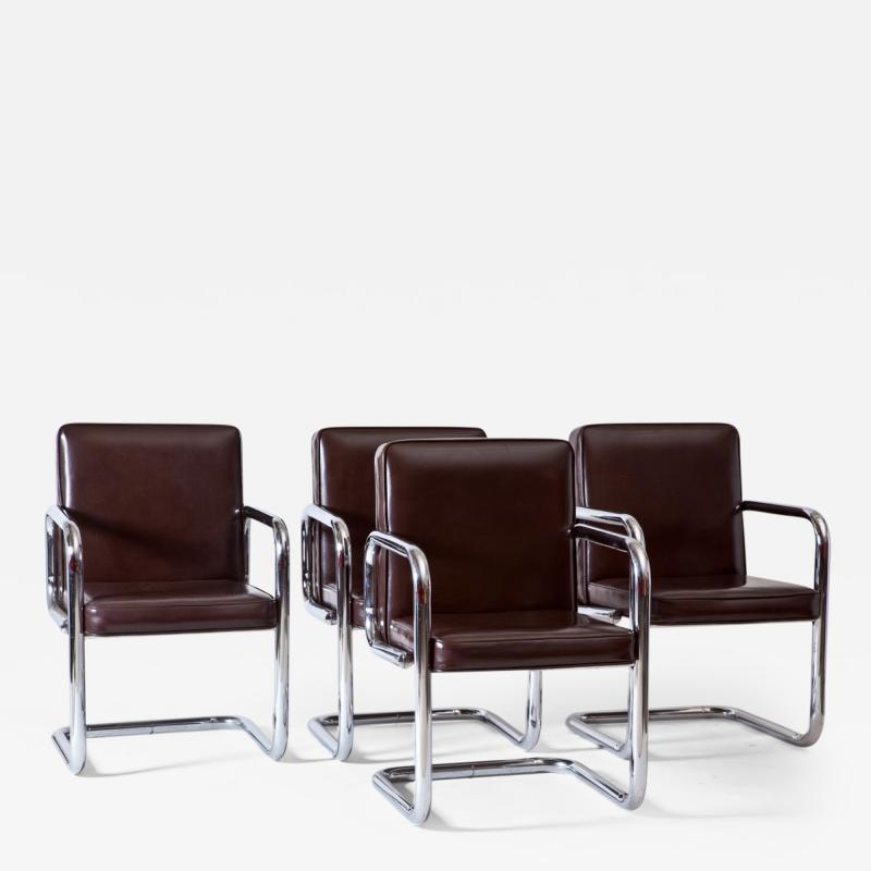 Pace Collection Set of Four Side Chairs Style of Pace