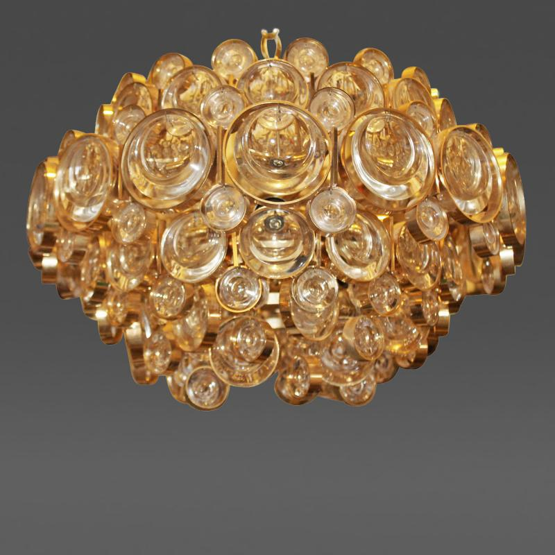 Palwa gracious gold plated chandelier by palwa germany 1970s palwa gracious gold plated chandelier by palwa germany 1970s aloadofball Image collections