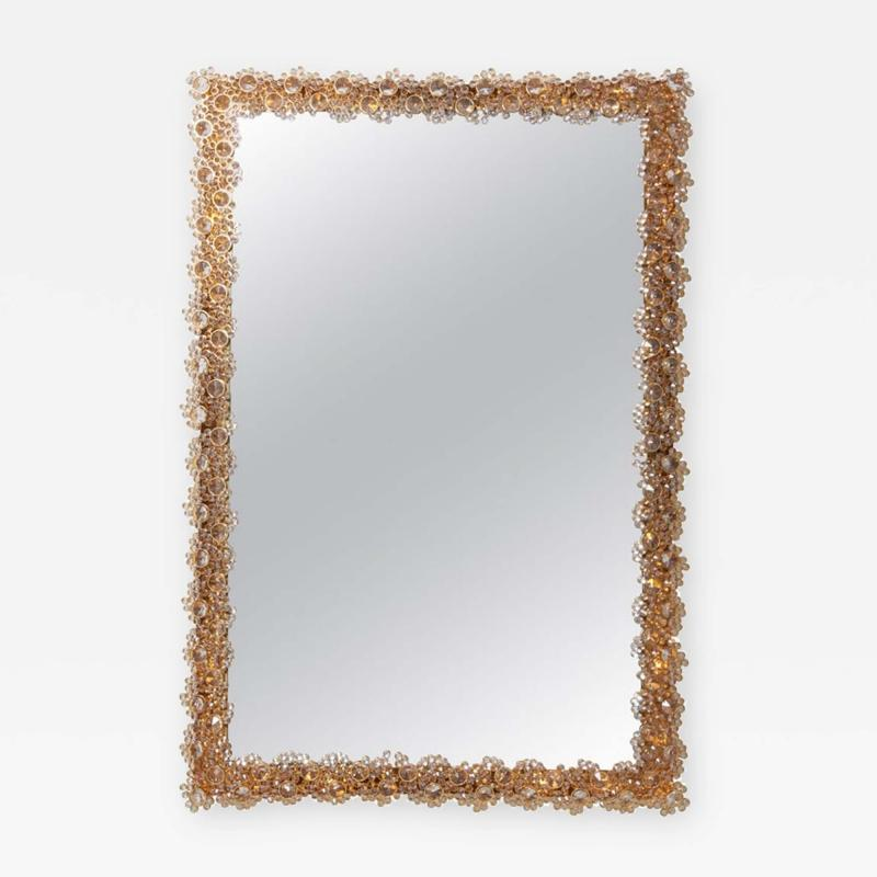 Palwa Outstanding Square Illuminated Palwa Crystal Glass Mirror Model S100W
