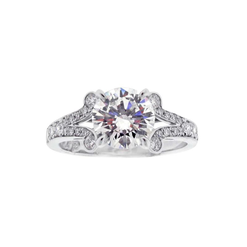 Pampillonia Diamond Solitaire Handmade Engagement Ring from Pampillonia