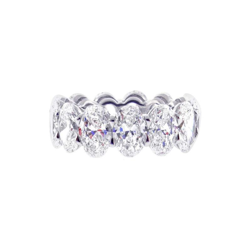 Pampillonia One Carat Each G I A Diamond Oval Band Ring by Pampillonia