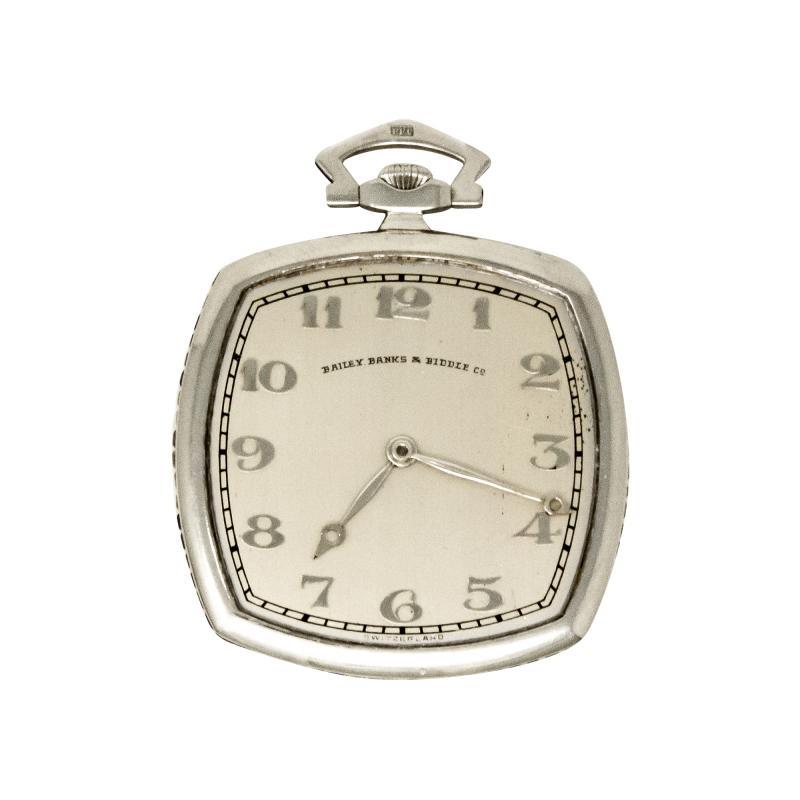 Patek Philippe Co 1930s Patek Philippe Platinum Sapphire Diamond Factory Set Pocket Watch