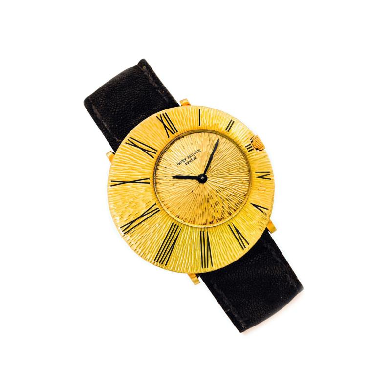 Patek Philippe Co 1960s Patek Philippe Gilbert Albert Prototype Assymeterical Wristwatch