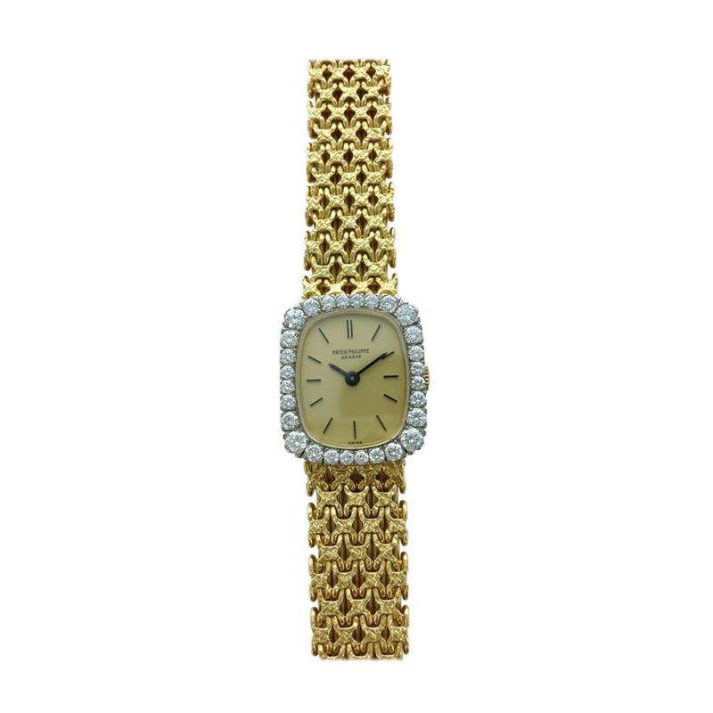 Patek Philippe Co 1970s Patek Philippe Diamond Gold Wristwatch