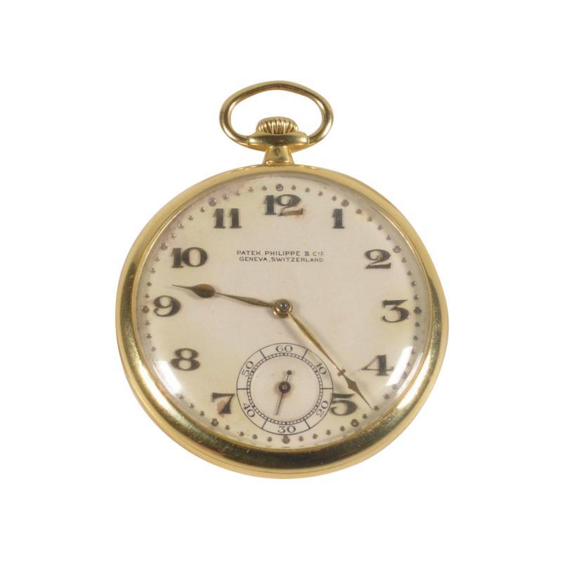 Patek Philippe Co Patek Philippe 18 Karat Yellow Gold Open Face Pocket Watch circa 1920