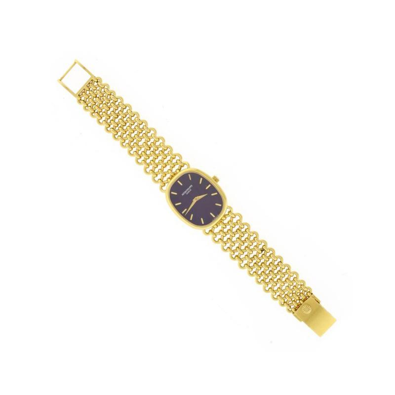 Patek Philippe Co Patek Philippe Ladies Yellow Gold Golden Ellipse Manual Winding Wristwatch