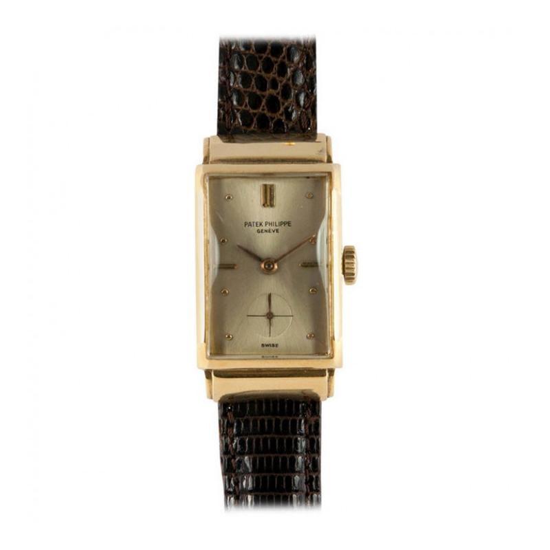 Patek Philippe Co Patek Philippe Yellow Gold Rectangular Wristwatch Circa 1930s