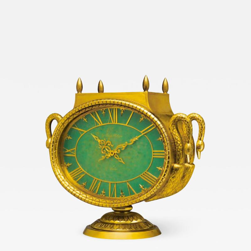 Patek Philippe Co Rare 1965s Patek Philippe Jade Swan Solar Clock Largest Solar Clock Ever Made