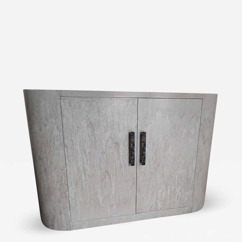 Paul Marra Design Italian Inspired Rounded Cabinet with Drip Glaze by Paul Marra