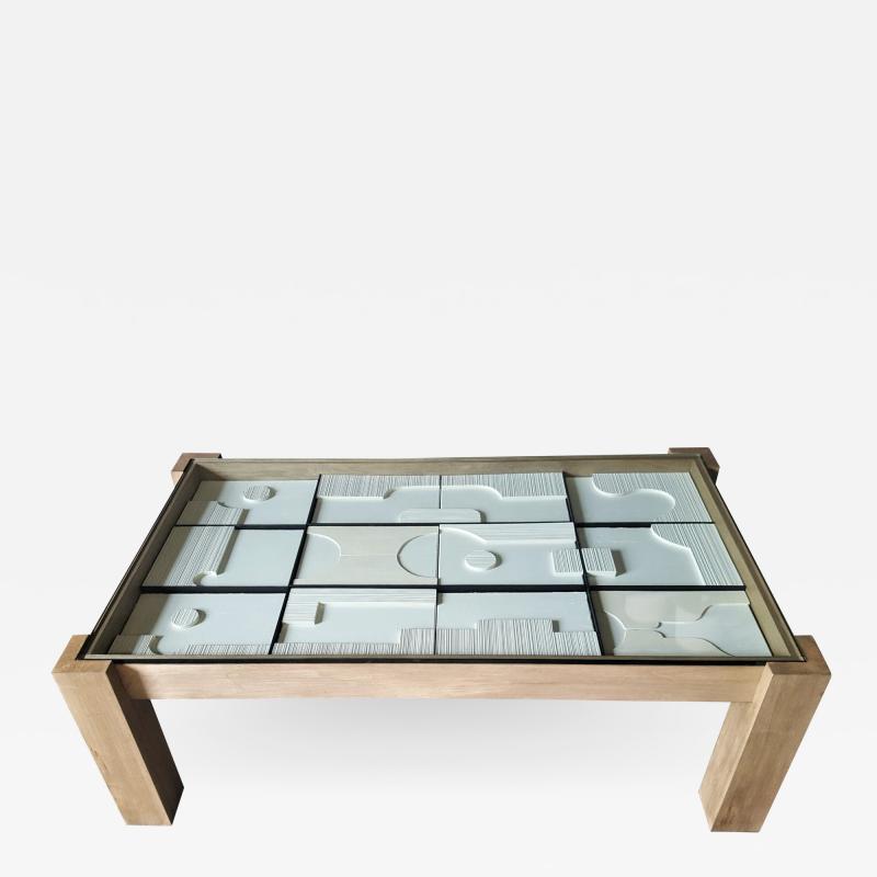 Paul Marra Design Modernist Frieze Cocktail Table by Paul Marra